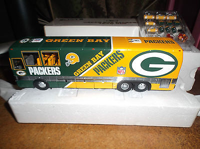 Green Bay Packers Team Bus W/ Accessories Unplayed Condition 2000 Danbury Mint