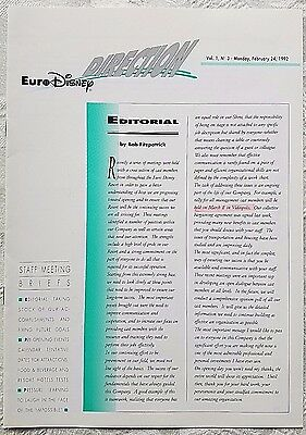 Rare Feb 1992 Euro Disney Disneyland Paris Direction Management Cast Newsletter