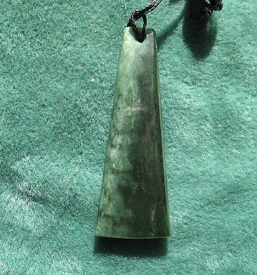 New Zealand Greenstone Pounamu Jade  Toki Adze pendant  #360