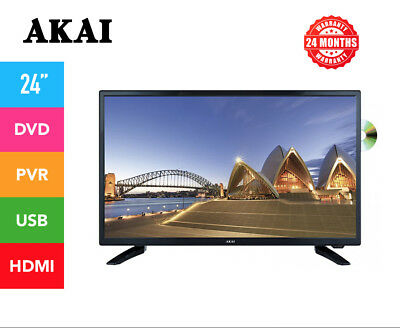 "AKAI 24"" INCH FULL HD LED TV w/ BUILT IN DVD PLAYER/PVR 2 YR WARRANTY BRAND NEW!"