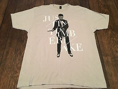JUSTIN TIMBERLAKE 20/20 World Tour mens XL shirt pop rock & roll x-large nsync !