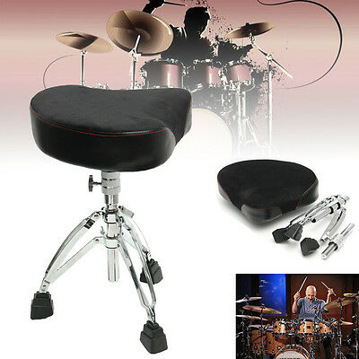 Triangle Drum Throne Chrome Heavy Duty Double Braced Adjustable Seat Stool Chair