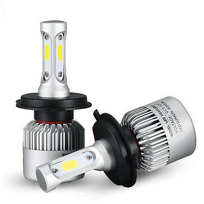 2x H4 9003 HB2 72W 8000LM LED Headlight Car Hi/Lo Beam Bulbs Light 6000K White