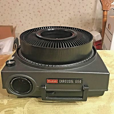 Kodak Carousel 650 Slide Projector With Wired Remote and Deluxe Carrying Case