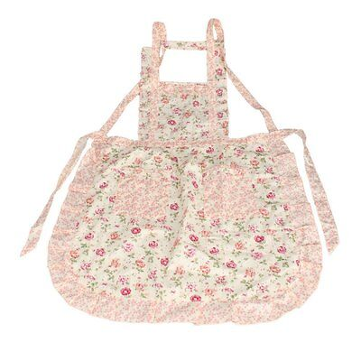 Stylish Rose Flower Pattern Women's Chefs Cooking Cook Apron Bib with Pockets PK