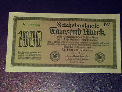 Germany - 1 000 Mark  Banknote 1922- -Inflation - Extremely Fine