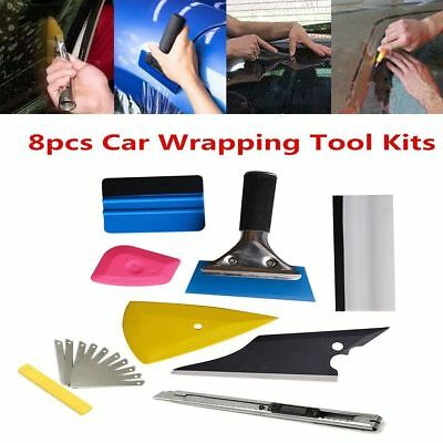 8in1 Squeegee Car Window Tinting Auto Film Install Wrapping Applicator Tools EJ4