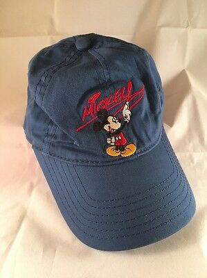 Disney Parks Disneyland Boy Blue/Red Mickey Mouse Cap Hat for kids