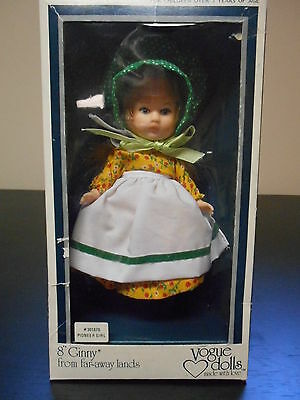 """Vogue Ginny Doll -1977c 8"""" - Pioneer Girl - from Far-Away Lands -  Mint in Box"""