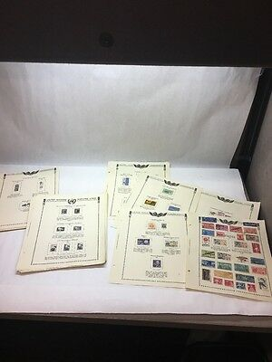 Us States Stamps Vintage International Set Collection Lot Album Page 1961 Misc