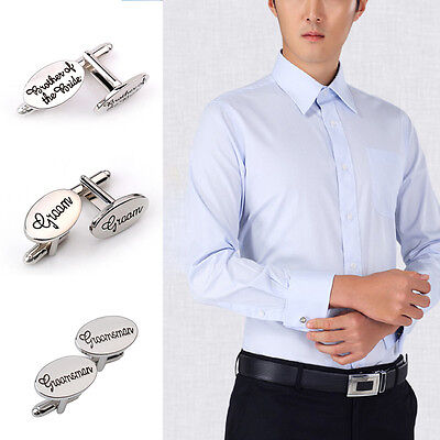 Fashion Oval Mens Wedding Cufflinks Cuff Links Best Man Groom Usher Best Gift