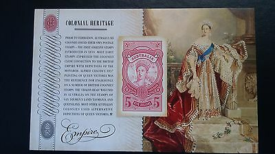 Australia 2010 Colonial Heritage Empire Imperf MS - Limited Edition MUH $5 Stamp