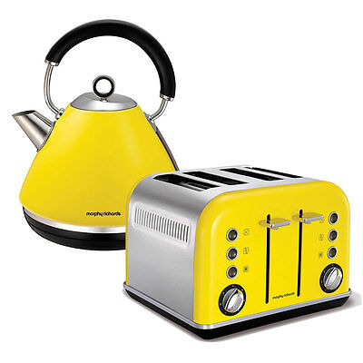 Morphy Richards 4 Slice Toaster & Kettle Pack - Yellow