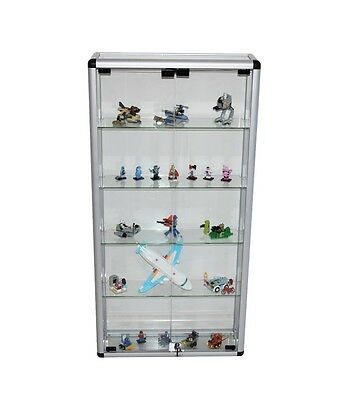 Glass Display Cabinet Showcase For Jewellery Model Car Hobbies Brand New