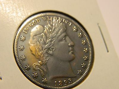 1892/1893 Barber Half Dollar Two Face Coin Toned