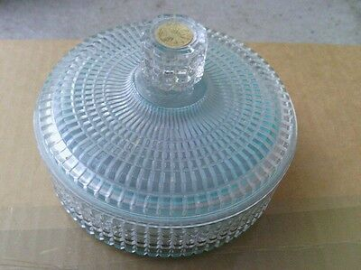 Rare Nice Avon Vintage Crystal Beauty Dust Empty Jar/container/dish With Lid