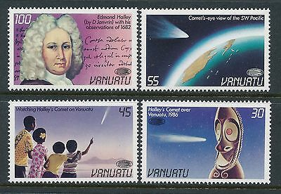 1986 Vanuatu Halleys Comet Set Of 4 Fine Mint Mnh/muh