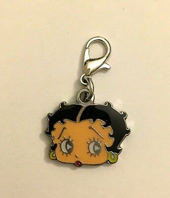 Betty Boop Charm Metal Baked on Enamel Paint with Claw Clasp Very Nice New