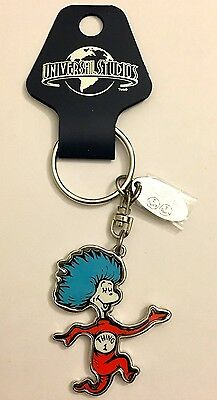 UNIVERSAIL STUDIOS Dr Suess THING 1 & THING 2 Full Body Key Chain Very Nice New