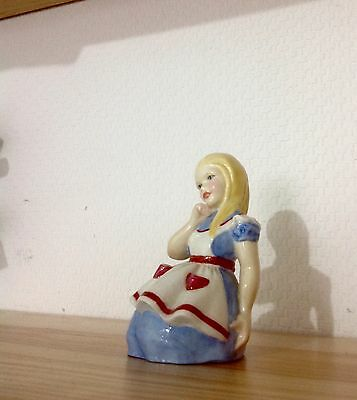 Royal Worcester Alice in wonderland porcelain Figurine