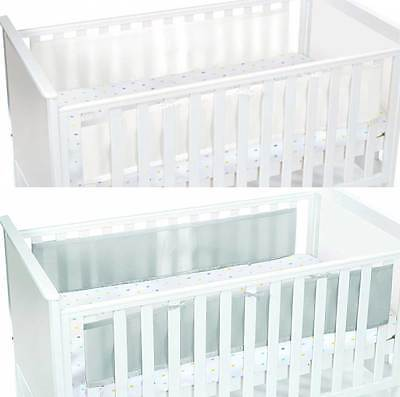 Breathable Baby Two Sided Mesh Liner Infant Cot/Cotbed Bumpers Nursery BNIB