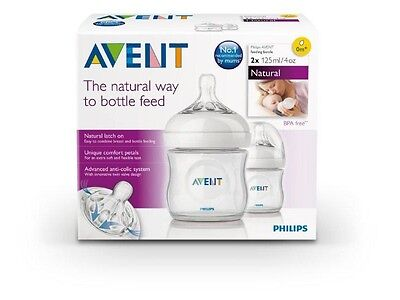 Philips Avent Natural 4oz Twin Pack Bottle