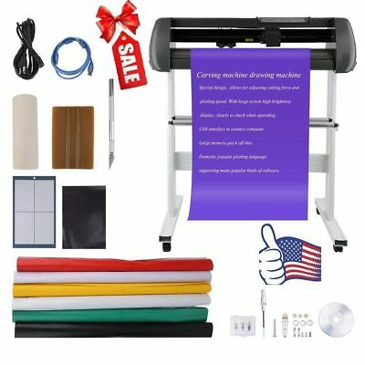 100-240V Vinyl Cutter With Stand Cutting Plotter Kits Contour Cut Plotter E101