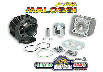 GRUPPO TERMICO MALOSSI CILINDRO Ø47 ghisa spinotto 12 KYMCO TOP BOY COBRA 50 2T