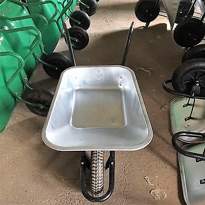 85L Galvanised Heavy Duty Garden Builders Wheelbarrow with Pneumatic Tyre