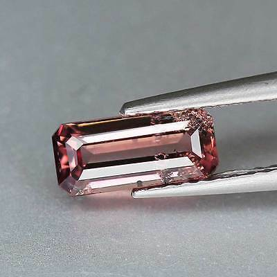 "0.98cts""Tanzania"" Pink To Color Change"" Natural Malaya Garnet""Emerald Cut""PR1349"
