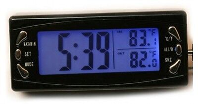 Esung New LCD Inside and Outside Car Thermometer Clock Automotive Electronic