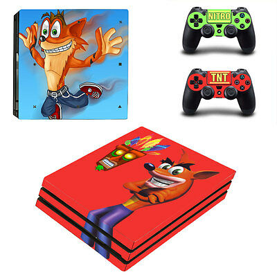 New Sony PlayStation 4 Pro PS4 Console Controller Vinyl Skin Sticker Decal Cover