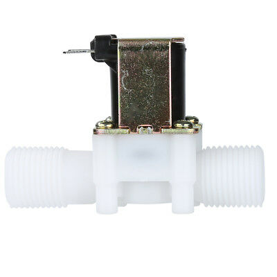12V Electronic Solenoid Valve DC N/C Water Air Inlet Flow Switch Moisture-proof