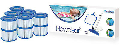 Bestway Jumbo Pool Pack- Pool Maintenance Kit & 6x Twin Pack Filter Cartridges