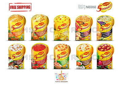 MAGGI 5 MINUTES Instant Soup with Croutons & Noodles