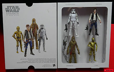 "STAR WARS Episode IV: A New Hope DRCC 3.75"" (ca.10cm) 4 Figuren OVP"