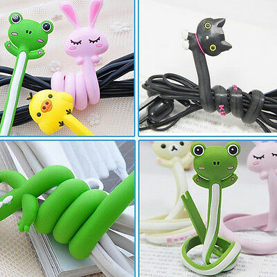 Cute Animal Earphone Headphone Wrap Cord Wire Cable Holder Winder Organizer L