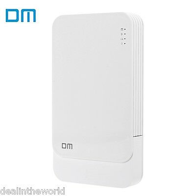 DM WFD027 Wireless WiFi Hard Disk Drive Enclosure USB3.0 to SATA for HDD White
