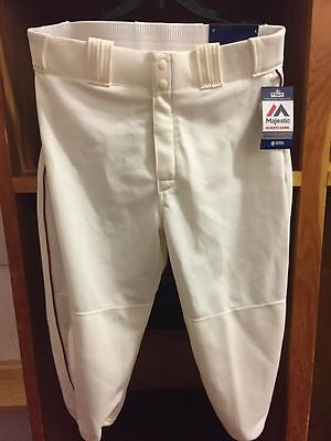 Lot of 10 Majestic MLB Off White/Cream Baseball Baseball Pants in size M and L