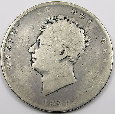 KING GEORGE IV  SILVER HALF- CROWN COIN  dated 1829