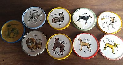 9 dog coins found in humpty dumpty chips 1961 free shiping buy it now