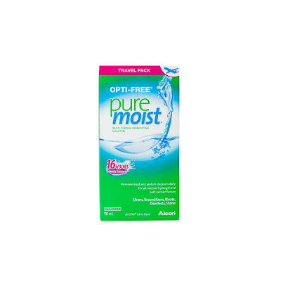 NEW Disinfecting Solution Opti-Free Puremoist For Soft Contact Lenses 90ml