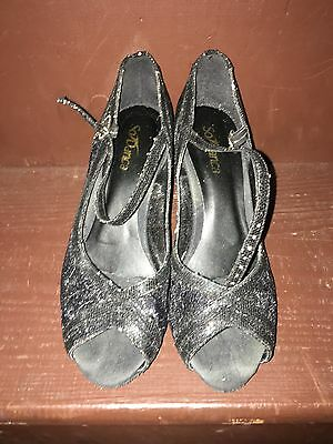 So Danca Women's Size 6.5 Black Character Shoes Ballroom