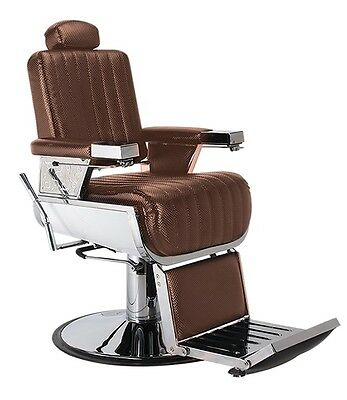 Koza Barber Chair Classic Brown Hydraulic Lift Australian Stock