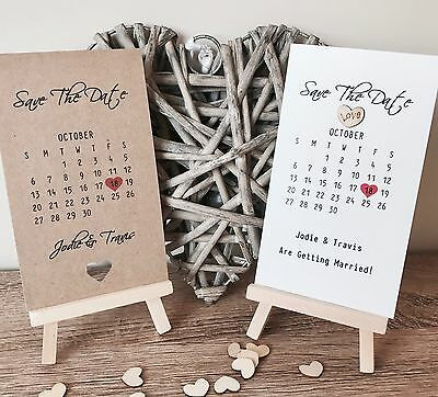 Personalised Save The Date Calander Cards Invitations