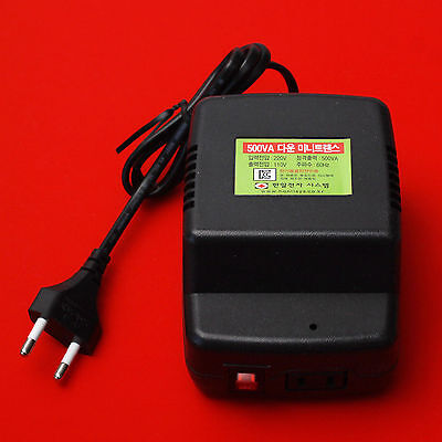 [Sale]Mini Transformer Converter Step Down Voltage Button 220V To 110V 60Hz 500W