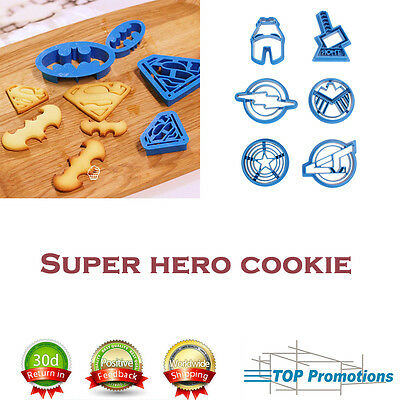 Pastry Baking Sugar Craft Cookie Cutter Cake Decorating Fondant Superhero Mold