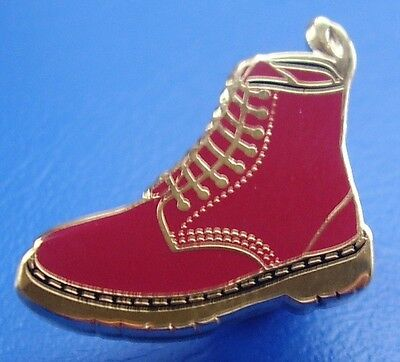 Skinhead Ska Reggae Badge - Dm Boot Badge - Red