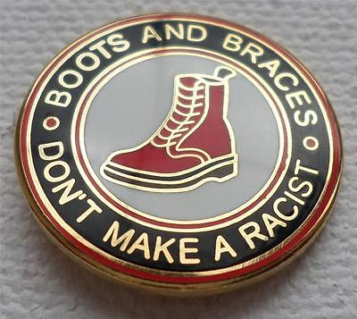 Skinhead Ska Reggae Badge - Boots And Braces - Don't Make A Racist
