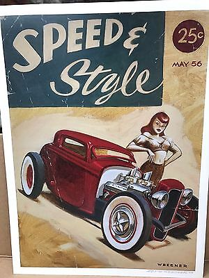 "2007 Signed Keith Weesner Speed & Style Print 12"" X 16"""